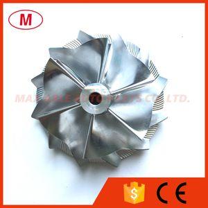 GT15-25 702549-0008HF V1 50.20 / 65.00mm 6 + 6 lâminas Para Frente de Alto Desempenho Turbo Alumínio 2618 / Fresagem / Billet Compressor roda para TOYOTA