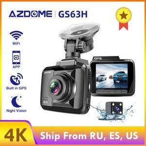 DVR Dash Camera AZDOME Car dvr GPS Parking Monitor Dash Cam 4k Vehicle Rear View Camera GS63H Dual Lens Wifi Night Vision Dashcam