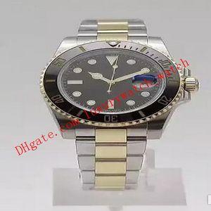 El reloj de lujo de Super Versión N fábrica V7 18 quilates de oro envuelta 40mm 116613 automático ETA 3135 Buzo impermeable del deporte relojes de los hombres Fecha