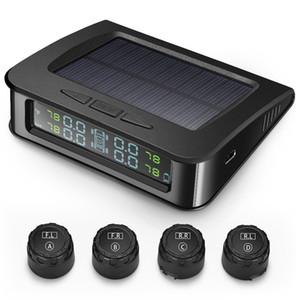 ZEEPIN C220 نظام مراقبة ضغط الإطارات TPMS الشمسية مع 4 مجسات خارجية