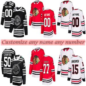 herhangi bir ad hokey forması Özel Chicago Blackhawks formaları 77 DACH 2 KEITH 7 SEABROOK 20 SAAD 50 CRAWFORD 65 SHAW özelleştirme herhangi bir sayı