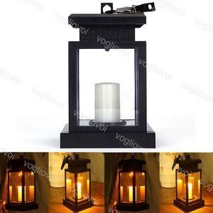 Lámparas solares Luces de jardín Linterna Paraguas Colgando Luz de Paisaje Europeo para Café Decoración del hogar DHL