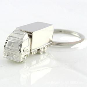 200pcs kühle Kreative Mode Container-LKW-Metall Keychain Ring-Schlüsselring-Ring-Silber-lustige Geschenke Promotion Hochzeit Partei RRA2566