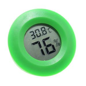 LCD Termometro digitale igrometro Umidità Strumento di misurazione della temperatura Rotondo Mini strumento elettronico elegante per animali domestici a più colori