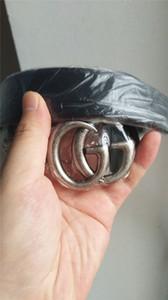 CALIENTE ahora Diseñador Cinturón de vaca de alta calidad G # cinturón doble hebilla de cuero real de lujo diseñador masculino cinturón para hombres mujeres tamaño ancho 2.0 3.4 3.8 cm CAJA