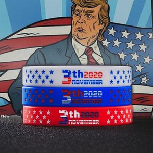 Donald trump bracelet silicone us presidential election sport wristband keep america great again 2020 party favor FFA4057