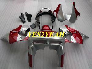 Kit de cuerpo de carenado de motocicleta para KAWASAKI Ninja ZX-9R ZX 9R 98 99 ZX 9R 1998 1999 ABS Rojo plata Carenados de carrocería + regalos KC10