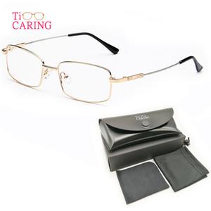 Occhiali da vista in lega di titanio Telaio completo Occhiali da vista rettangolari in metallo Occhiali da vista ottici con montatura da vista