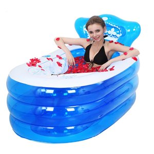 Portable toilet bathtub Folding thicken tub adult plastic inflatable bath tub inflatable collapsible inflavel with electric pump