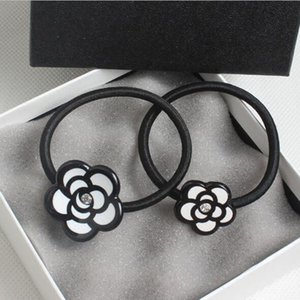 summer supply of new Korean lovely camellia flower hair rubber band hair rope ring girls