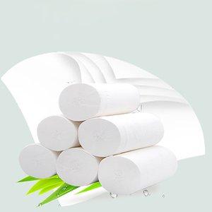 12 Rollo / porción Los trabajos de limpieza de la cocina Cuarto de baño WC friendly rollo de papel de baño WC de papel Un Tiempo papel de limpieza de Nueva
