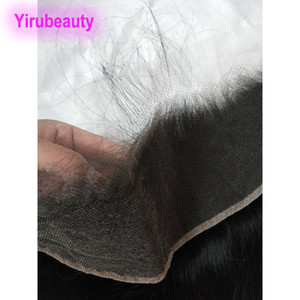 Virgin indiano del merletto dei capelli frontale 13x4 HD Remy capelli HD 13 Con 4 Frontal del merletto chiusure Natural Color Yirubeauty