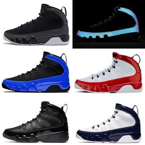 Nike Jordan 9s 3m Racer Bleu 9 9s New Jumpman 23 IX Basketball Hommes Chaussures de sport space jam Red Snakeskin UNC OG version Designer Sport Formateurs