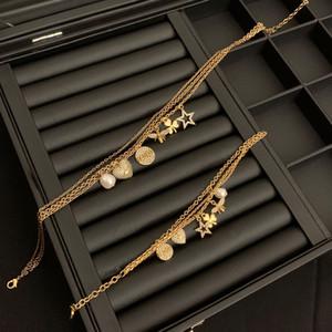 família D 20-year-camada dupla colar feminino di família Bee estrela Clover pulseira de pérolas