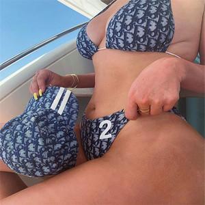 2020 Mais novos ternos de grife-G forma do biquini Swimwear As mulheres agradáveis Swimsuit Bandage Sexy banho Sexy de duas peças Trajes de banho 4 tamanhos