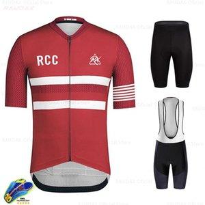 Ciclismo Jersey Set 2020 Pro Uniforme della squadra Rcc manica corta vestiti di riciclaggio Kit Uomini Bike Mtb Bike Wear Triathlon