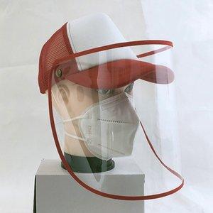 Cappello visiera antipolvere Anti Drool spruzzi d'acqua Maschera Maschera pieno facciale removibile Isolamento giornaliera di protezione Cappello HHA1280