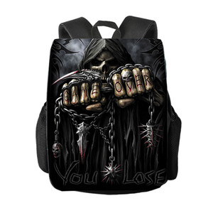 Raffreddare Morte Teschio / Grim Reaper zaino Donna Uomo borsa da viaggio Student Zaino bambini della scuola borse zaino della ragazza dei ragazzi Daypack