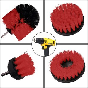 5pcs Electric Drill Kit Plastic Round Cleaning Brush For Carpet Glass Car Tires Nylon Escovas Scrubber Drill Set