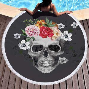150 * 150см Fiber Пляжные полотенца Printed круглый лето Полотенце 3D Пикник Йога Одеяло кисточкой Халат Бесплатная доставка A03