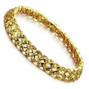 Liffly Mode Weibliche 18 karat Gold Armband Hohl Armbänder Für Frauen Braut Hochzeit Schmuck Geburtstagsgeschenk Y19051602