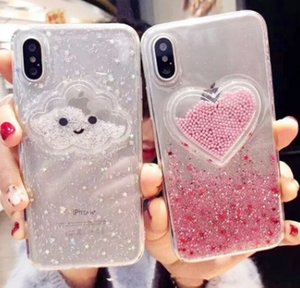 Bling NICE Phone Cases Colored love ice cream phone case Soft For Iphone 11promax 6 7 8Plus Cell Phone Case