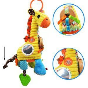 Cartoon Giraffe Happy Giraffe Plüschtier Weiche Giraffe Pull Bell Spielzeugpuppe für Kinder Kinder Weihnachtsgeschenke Weihnachtsgeschenk