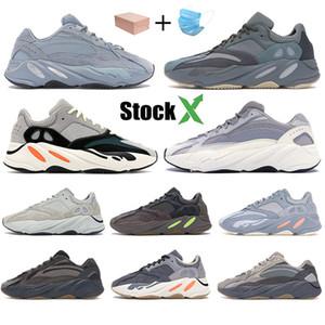 Yansıtıcı 700 Dalga Runner Kanye West v2 Katı Gri statik Mıknatıs Teal Karbon Mavi Basamak ayakkabı erkekler Tasarımcı Ayakkabı Kadınlar Statik Sneakers