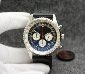La vendita superiore di alta Quailty gomma quadrante nero Aviation cronografo al quarzo serie 1 AB012012.BB01.435X.A20BA.1 orologi da polso