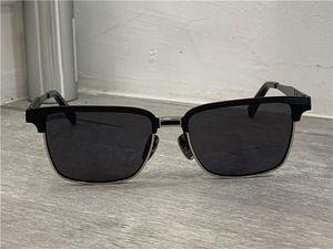 Kare Titanyum Mat Siyah Altın Güneş 2076 Erkekler Güneş Gözlükleri Kare kutu ile gözlük Yeni güneş gözlüğü