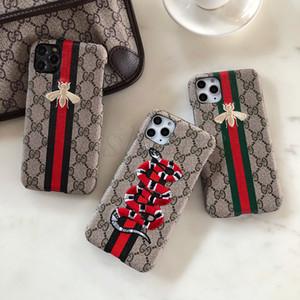 Новый 3D Vogue Вышитого чехол для телефона IPhone 11 Pro X XS MAX XR 8 7 6s Plus Bee животных Змеи Обложки для Samsung S20 S10 S9 S8 S7 Примечания 10 9
