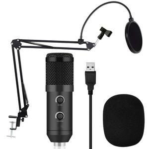 BM 900 Condenser USB Microphone Studio mit Stativ und Pop-Filter-Mikrofon für Computer-Karaoke-PC von BM 800 aufgerüstet