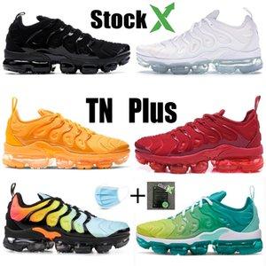 nike air max vapormax De plus TN BE TRUE hommes femmes chaussures de course triple VOLT noir blanc arc-en-baskets de sport d'olive formateurs des hommes designer
