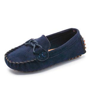 JGVIKOTO Jungen Mädchen Schuhe Mode Weiche Kinder Müßiggänger Kinder Wohnungen Casual Bootsschuhe kinder Hochzeit Mokassins Lederschuhe