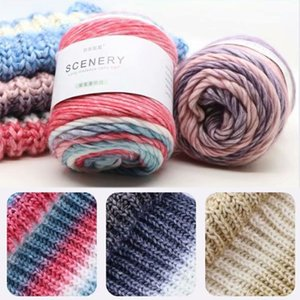 100g Worsted Hand Knitting Cake Yarn Gradient Ombre Colorful Crochet Woven Thread DIY Craft for Warm Scarf Sweater Coat