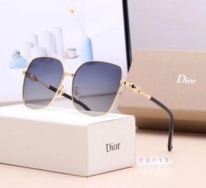 Designer von beliebten Sonnenbrillen für Damenbekleidung Marke 72013 quadratische Sommerbekleidung Vollformat hochwertige Anti-UV-Mischfarbabstimmung