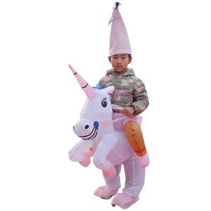Enfants Fancy robe de bal Unicorn gonflables Vêtements drôle de Noël Marcher Costume Doll Bachelorette Party Supplies Hot vente 65cl L1