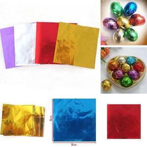 TTLIFE 100шт алюминиевая фольга DIY шоколад конфеты пакет бумага подарочная коробка конфеты пакет фольга бумажная упаковка 5 ярких цветов