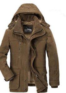 Толстая Теплая Ветровка Мужские Меховые Пальто С Капюшоном Homme Winter New Hombres Мужские Пуховики