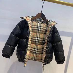 бренд B Верхняя одежда Зима Теплые пальто Детская одежда ветрозащитный утолщаются Мальчики Девочки вниз пальто