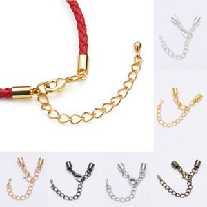 10pcs / lot de la aleación extremo de la cuerda Caps cadena corchetes de la langosta Extender para DIY collar de la pulsera del corchete de joyería y accesorios Conectores