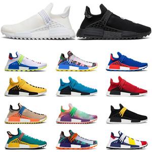 Adidas NMD boost Human race Nueva llegada carrera humana Hu trail x pharrell williams Nerd hombres zapatillas blancas Equality hombres entrenadores para mujeres deportes zapatillas