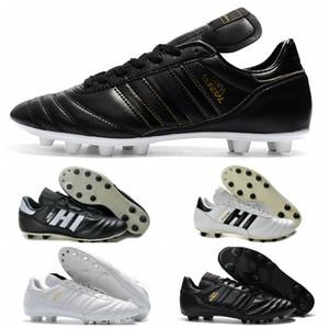 Copa Mundial Deri Erkek FG Futbol Cleats 2015 Dünya Kupası chaussures de Futbol Çizmeler Siyah Beyaz Turuncu botines futbol taqu ...