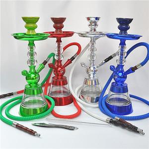 Nouvelle arrivée Tubes en aluminium acrylique arabe Hookah simple tuyau d'eau en verre Bangs adultes arabes Chicha Nightclub Party Accueil smooking Outils 2020