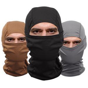 maschera tattico volto pieno maschera traspirante inverno cappello protettore UV caccia cappello di trekking accessori tattici trasporto libero