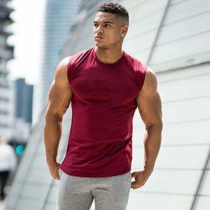 2019 Summer Newest Brand Mens Curved Hem Solid Color Gyms Stringers Vest Bodybuilding Clothing Fitness Man Tanks Tops MX200518