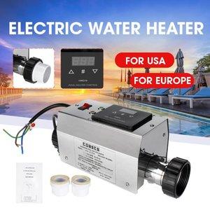 풀 히터 3KW 220V 전기 수영장 및 스파 목욕 난방 욕조 물 히터 온도 조절기 220V 수영 액세서리
