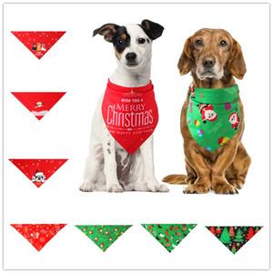 Pet Kedi Köpek Bandana Fular Köpek Üçgen atkısı Headdress Bow Tie Köpek Giyim Aksesuarları Pet Noel Dekorasyon Aksesuarları