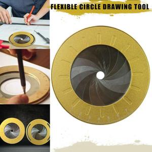 Rotonda strumento cerchio regolabile di misura in acciaio inox creativo Disegno righello con Size Misura Marks partito cottura
