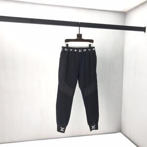 2020 Französisch Frühling und Herbst Taille Muster gedruckt Hose Herren-Designer hochwertige lose Baumwolle bequemer Strahl gemischte Baumwollhosen